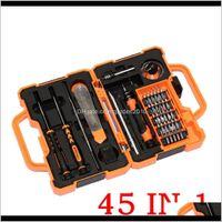Отвертки Jakemy JM8139 45 в 1 Точная отвертка набор ремонтных комплектов Инструменты открытия для мобильного телефона Компьютерное электронное обслуживание GGA1 9GVRT