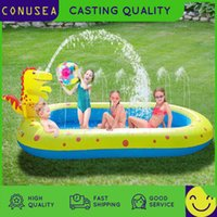 170Cm Rectangular Inflatable Swimming pool Large pools for family Removable Alberca Bathing Tub Outdoor Summer toy for kids baby X0710