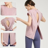 Yoga Outfits Style Elegant Quick-Dry Sports Clothing T-shirt-Style Clothes Sexy U-Back Tops Online Celebrity Fitness Suit Women