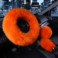 Steering Wheel Covers Premium Comfortable Long Gril Cover Set In Winter