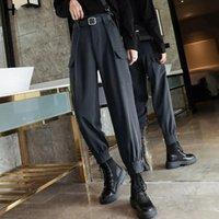 السراويل النسائية Capris Latimeelon الهيب هوب البضائع المرأة الصلبة الكورية أزياء طالب عارضة السراويل pantalon فام الربيع المتناثرة فتاة IUOK