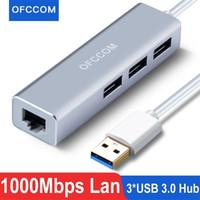 Ofccom USB C Ethernet 3.0 2.0 RJ45 HUB 10/100/1000 Mbps Adaptör Ağ Kartı LAN MacBook Windows 210615 için