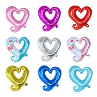 10 pz / lotto 18 pollici Gancio cuore -Shaped Balloon Balloon Balloon Balloon Wedding Valentino Decorazione di San Valentino Gogo Gogo Cuore Palloncino Palloncino
