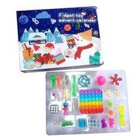 Dhl tiktok fashionabla julventil sensory calendars fidget leksaker bift box xmas gåva för barn barn push bubbla autism stress favor