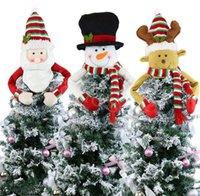 Natale albero topper decorazione santa pupazzo di neve renna abbraccio natale natale vacanze inverno festa ornamento forniture