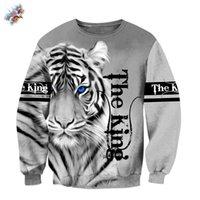 Hoodies dos homens moletons personalizados moda outono hoodie branco tigre pele 3d de alta qualidade corpo completo impresso suéter unisex casual p