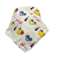 Bebé impresión saliva toalla bebé niño niño niña ocio ropa algodón triángulo recién nacido turbante babero bufanda doble broche 421 U2