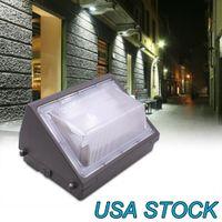 야외 램프 80W LED 벽 팩, 일광 5000K, 7600 LM, HID 교체, IP65, 120-277V, 밝은 일관된 상업용 옥외 보안 조명