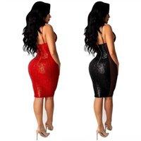 Люсиверо женские без рукавов Spaghetti ремешок атласное платье Ruched Split Backbloe боковые сексуальные красные летние женские короткие платье женские платья платья WO