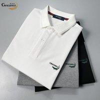 Crocodile 2021 T-shirt casual a risvolto Paul Camicia Bianco Summer Polo Manica corta Abbigliamento da uomo
