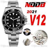 2021 N V12 SA3135 Automatic Mens Watch Black Green Ceramic Bezel والاتصال 904L سوار الصلب النسخة النهائية النسخة السوبر الإصدار (امتصاص الصدمات الصحيح) 116610 Pruetime
