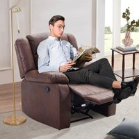 Bedroom Furniture Orisfur. PU Leather Heated Massage Recliner Sofa Ergonomic Lounge with 8 Vibration Points