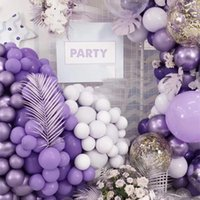 "Party Decoration 12pcs lot 10""5"" Purple Colors Balloon Pure Latex Inflatable Macaron For Home Wedding Bachelorette"