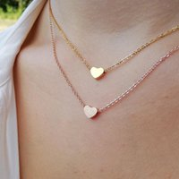 Mini Heart Necklaces For Women Wedding Jewelry Stainless Steel Rose Gold Choker Necklace Bridesmaid Gifts BFF Collar 2021 Chains