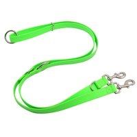 [Ágil] alto resistente multifuncional doble perro correas de correas de la cuerda Material PVC para perros de correa de plomo PET impermeable para suministros limpios collares
