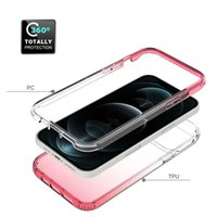 360 Protector Transparent Phone Cases For iPhone 12 Mini Pro Max SE 7 8 TPU+PC Cover
