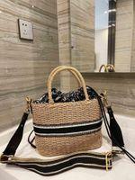 Designers Tote Saco Crossbody Luxurys bolsas de vime mão-tecida de confecção de palha de palha 2021 tendência cesta de vime sacos de alta qualidade atacado