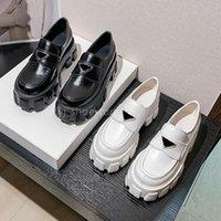 2021 Дизайнерские Женские Loafer Обувь Высокое Качество Повседневная Обувь Мягкая Коровьей Резиновая платформа Черные Патентные Кожаные Кроссовки Досуг Платье Круглый Ног на скольжение