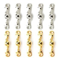 Silver/Gold Plated 6mm/8mm Powerful Magnetic Magnet Necklace lobster Clasps ball Clasps for Necklace Jewelry DIY C3