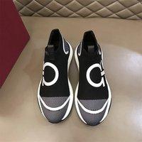 Salvatore Ferragamo En kaliteli rahat ayakkabılar lüks tasarımcı sneaker hakiki deri örgü sivri burun yarışı koşucu açık havada US39-43