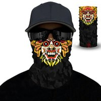3D 원활한 마술 머리띠 두개골 유령 광대 목 배출 얼굴 커버 헤드웨어 할로윈 반복 자외선 보호 바이커 커버 스카프