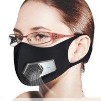 PM2.5 Staubdichte Maske Smart elektrische Lüftermasken Anti-Umwelt-Pollen-Allergien Atmungsaktive Gesichtsschutz-Abdeckung 4 Schichten Schutz