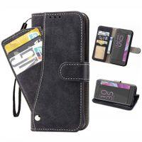 Casos de protección de la cartera de tarjetas de cuero para Sony XA ULTRA XZ1 XZ2 XZ3 XZ4 Samsung J3 J4 J5 J6 S20 Plus