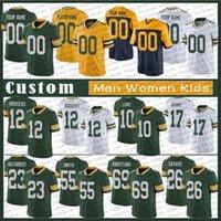 "17 Davante Adams 8 Amari 12 Aaron Rodgers 33 Jones Custom Custom Football Jerseys Green Eric Stokes Bay ""Packers"" Jaire Alexander 10 Love David Bakhtiari Blake Borles"