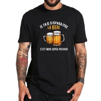 Men's T-Shirts I Disappear Beer This Is My Superpower T Shirt Drinking Lovers Great Design Vintage 100% Cotton Soft High Quality Tee Tops