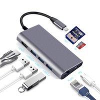 usb c hub usbc hub typec to multi usb 3 0 hdmicompatible 4k rj45 power adapter type c hub hab splitter for macbook pro air