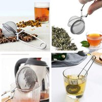 Tea Infuser Stainless Steel Sphere Mesh Tea Strainer Coffee Herb Spice Filter Diffuser Handle Tea Ball Teaware Accessories Kitchen Tools