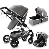 Designer-Luxus-Kinderwagen 2021 Baby 3 in 1 Hohe Landschaftsnachrichten-Wagen-Folding-Puchair-geborenes Auto-Aluminiumrahmen