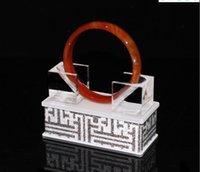 Supporto del braccialetto del braccialetto del braccialetto della giada acrilico per il bancone del negozio Vetrina Chiosco Gioielli squisiti dello squisito Manifestazione della fascia della mano Z3m4L Edbop