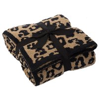 Home Textiles Blanket Nordic OEM knitted leopard Plush air conditioning woven barefoot dream SofaL7XG
