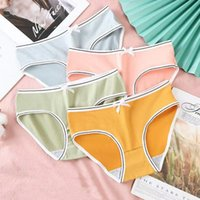 Factory direct underwear women students summer Korean version of lovely milk cotton breathable anti-bacterial middle waist sexy briefs