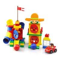 63pcs 어린이 초기 교육용 큰 입자 조립 빌딩 블록 장난감 크리 에이 티브 정보 DIY Tubiegame Paradise Toys Kid GIF