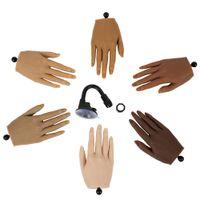 Praxishand für Acryl mit Tipps Erwachsenenschaufensterpuppe mit flexibler Fingereinstellung Display-Modell bewegliche Nägel