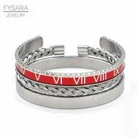 3pcs / set acier inoxydable compteur de vitesse bracelets de bracelets pour hommes sportifs ouverts bracelets bracelets Set punk bijoux 7 couleurs