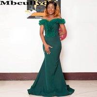 Bridesmaid Dress Mbcullyd Emerald Green African Dresses 2021 Sexy Off Shoulder Mermaid Wedding Guest Robe Demoiselle D Honneur