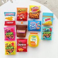 3D Cartoon Cake Drink Potato Chips Cow Silicone Cases For Apple Airpods Covers Earphone Air pods 1 2 Pro Case Wireless Charging