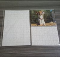 Sublimation Puzzle A4 Size DIY Sublimation Blanks Puzzles White Puzzle Jigsaw 80pcs Heat Printing Transfer Handmade Gift DWF7524