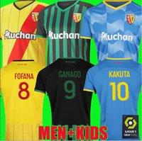 RC Lens 21 22 Üçüncü Futbol Formaları Kakuta Ganago Sotoca Fofana Clauss Gradit Fortes Banza Cahuzac Dooure 2021 2022 3rd Futbol Gömlek Erkekler Kids Kiti Maillots de Foot