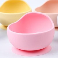 Bowls Silicone Baby Feeding Bowl Tableware Set Learning Dishes Plate Non-Slip Suction Stuff Drop