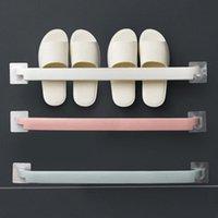 Hooks & Rails Fold Shoes Shelf Bathroom Organizer Slippers Holder Waterproof Bath Wall Drain Rack For Household