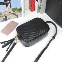 حقيبة يد نسائية مصممي مصممي 2021 6 اللون عارضة السفر الشرابة حقيبة صغيرة مربع بو المواد الأزياء حقيبة الكتف محفظة 1911 # 23 * 16 * 7 سنتيمتر