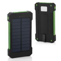 Banque d'alimentation solaire 20000mAh pour Xiaomi iPhone 12 11 pro Batterie externe de la batterie étanche Dual USB Charge de téléphone portable accessoires