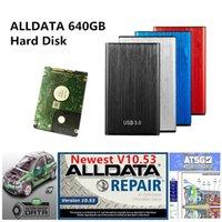 2021 Hot Todos os dados de reparação automática de dados AllData V10.53 Software de diagnóstico de carro para mais de 85% de modelos de carros suportam o Windows 7/8 / XP AllData 640GB HDD