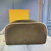 M47528 킹 남성용 케이스 핸드백 워시 가방 럭셔리 디자이너 패션 레이디 뷰티 더블 지퍼 대용량 화장품 저장 가방