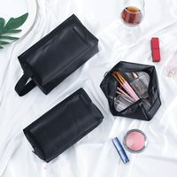 Women Men Necessary Portable Large Capacity Cosmetic Bag Transparent Travel Organizer Fashion Black Toiletry Bags Makeup Pouch ZXF0278