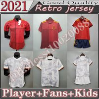 2021 Espanha Soccer Jersey Jogador FSAN Versão Camiseta España Paco Morata A.iniesta Pique 20 21 Cup da Europa Alcacer Sergio Alba Men Kids